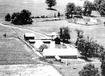 Aerial photo of the Anderson Farm, mid-1950's